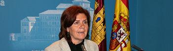 La consejera de Industria, Energía y Medio Ambiente, Paula Fernández, ha comparecido hoy en las Cortes regionales para dar cuenta de los resultados de las inspecciones realizadas a las plantas fotovoltaicas de Castilla-La Mancha.
