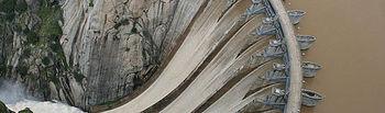 Fotografía de la presa Aldeadávila que puede verse en la exposición.