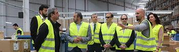 Ciudadanos C´s visita centro logistico DHL LOREAL.
