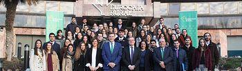 58 alumnos han comenzado sus prácticas universitarias en los distintos departamentos y oficinas de Eurocaja Rural