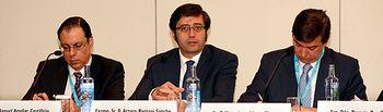 Arturo Romaní interviene en Ahorro Corporación. Foto: JCCM.