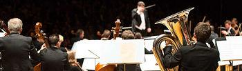 Imagen de una orquesta filarmónica.