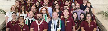 Recepción oficial del Ayuntamiento de Albacete a un grupo scout de Belén (Cisjordania)