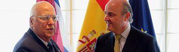 Escuchar con lector web la noticia 'El vicepresidente Cabrisas y el ministro De Guindos se reúnen en Madrid para dar un impulso a las relaciones entre España y Cuba'. Foto: Ministerio de Economía y Competitividad