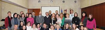 El viceconsejero de Educación, Jaime Alonso, recibe a la delegación europea del programa educativo 'Comenius'. Foto: JCCM.