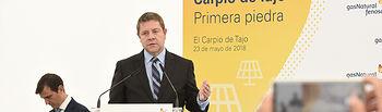 Colocación de la primera piedra de la nueva planta fotovoltaica en El Carpio de Tajo