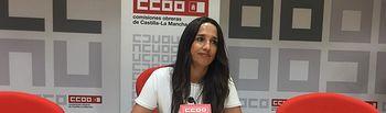 Rosario Martínez, secretaria regional de Mujeres e Igualdad de CCOO Castilla-La Mancha.