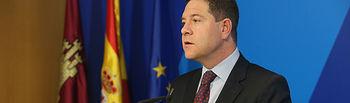El presidente Emiliano García-Page reclama explicaciones al Gobierno central sobre negociaciones con la Unión Europea. Foto: JCCM.