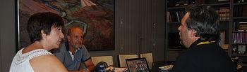 El gerente de Aeopas (Asociación Española de Operadores Públicos de Abastecimiento y Saneamiento) Luis Babiano, se ha reunido con la Alcaldesa de Alcázar de San Juan, Rosa Melchor, y el concejal del Ciclo hidráulico, Juan Garrido.