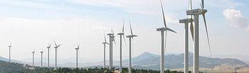 Parque eólico de Iberdrola en Pinilla, Albacete.