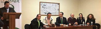 Presentación FERDUQUE en Porzuna, alcaldes y representante de ASAJA.