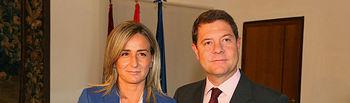 El presidente de Castilla-La Mancha, Emiliano García-Page, se ha reunido este miércoles con la alcaldesa de Toledo, Milagros Tolón, dentro de la ronda de contactos que está teniendo con los regidores de las principales ciudades de la región (FOTO: José Ramón Márquez // JCCM)