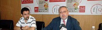 David Lillo y Ángel Ríos, durante la presentación de la nueva página web.