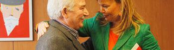 Leire Pajín y José Angel Fernández Villa