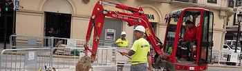 Obras de la primera fase de peatonalización del centro de Albacete
