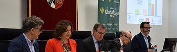 La consejera de Economía, Empresas y Empleo, Patricia Franco, presenta la nueva edición del Informe Global Entrepreneurship Monitor (GEM).