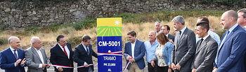 El presidente de Castilla-La Mancha, Emiliano García-Page, inaugura las obras de ensanche y refuerzo de las carreteras CM-5001 y CM-5005 de El Real de San Vicente. (Fotos: José Ramón Márquez // JCCM).