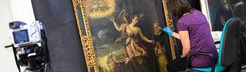 """Comienza la restauración de las obras de la exposición """"Cervantes soldado y poeta"""". Foto: JCCM."""