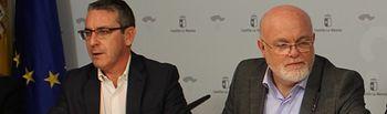 Eduardo del Valle, director general de Autónomos, Trabajo y Economía Social, y Pedro Annio Ruiz Santos, delegado de la Junta en Albacete.
