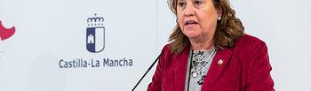 Rueda de prensa del Consejo de Gobierno extraordinario.  (Fotos: D. Esteban González // JCCM). Foto: Foto:D.Esteban Gonzalez//JCCM