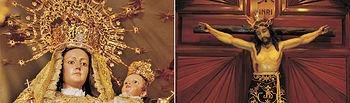 La Virgen del Valle y el Cristo del Consuelo de Aldea del Rey.