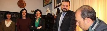 Visita del Presidente de las Cortes de CLM, Pablo Bellido a La Roda.