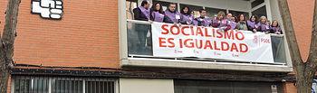 Unos 200 militantes y representantes socialistas partiparon en los actos organizados con motivo del Día Internacional de la Mujer