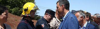 Pedro Sánchez visita la zona del incendio de Gran Canaria. Foto: @sanchezcastejon