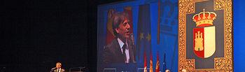 El humorista José Mota que recibió el título de Hijo Predilecto de Castilla-La Mancha durante su actuación en el Palacio de Congresos de Albacete en la celebración del Día de la Región.