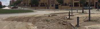 Escombros en la calle Ángeles Gasset.