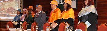 Constantino Berruga asiste al acto académico de apertura del curso 2014/15 en el centro asociado de la UNED de Albacete
