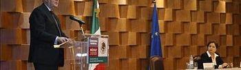 El ministro de Exteriores español, Miguel Ángel Moratinos, y su homóloga mexicana, Patricia Espinosa, en México. EFE