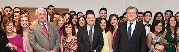 El presidente de Castilla-La Mancha, Emiliano García-Page, asiste al acto de graduación de la primera promoción de la Facultad de Medicina del campus universitario de Ciudad Real. Foto: JCCM.