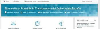 Imagen del portal de la Transparencia y Buen Gobierno (Ministerio). Foto: Ministerio.