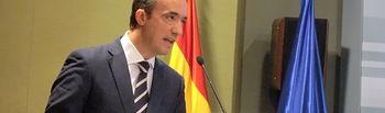 """El secretario de Estado de Seguridad, Francisco Martínez, durante la presentación del """"Libro blanco de mejores prácticas sobre recuperación de activos"""" enmarcado en el Proyecto CEART. Foto: Ministerio del Interior"""