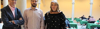 Llanos Navarro y Alberto Reina felicitan al Club Excalibur por la gran labor que realiza para fomentar y promocionar el ajedrez en Albacete
