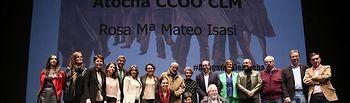 Rosa María Mateo, ha recibido el Premio Abogados de Atocha otorgado por CCOO Castilla-La Mancha.