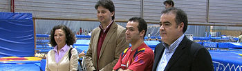 Roberto Parra, director general del Deporte de Castilla-La Mancha, durante su visita al Centro Especializado de Tecnificación Deportiva.