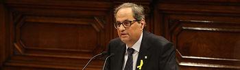 Pleno de  iinvestidura de Quim Torra, candidato a la presidencia de la Generalitat. Foto: Parlament de Catalunya (Miquel González de la Fuente). 2018