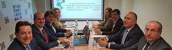 Reunión de trabajo con la Federación de Empresarios y la Cámara de Comercio