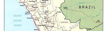 Mapa de Perú.