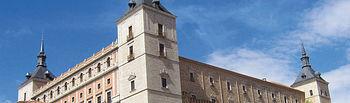 Edificio del Alcázar de Toledo, sede de la Biblioteca de Castilla-La Mancha.