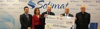 Los trabajadores de Solimat donan 1.000 euros a Cáritas Diocesana.