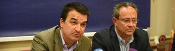 El consejero de Hacienda y Administraciones Públicas, Juan Alfonso Ruiz Molina, y el Consejero de Agricultura ,Medio Ambiente y Desarrollo Rura.