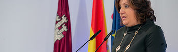 La consejera de Economía, Empresas y Empleo, Patricia Franco, comparece, en el Palacio de Fuensalida, tras la aprobación, en Consejo de Gobierno, del Plan Estratégico de Turismo 2020-2023 y realiza una valoración de los resultados de la EPA. (Fotos: A. Pérez Herrera // JCCM).