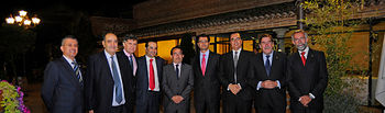 Romaní recoge el premio al Gobierno regional por su impulso a la Administración electrónica.. Foto: JCCM.