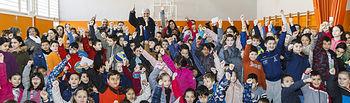 Presentación en el colegio Balconcillo de los programas de fomento del deporte impulsados por los centros escolares, Fernando Romay