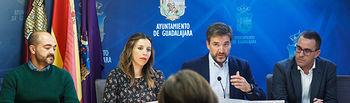 Comparecencia de Rafael Pérez Borda, Lucía de Luz, Jaime Sanz e Israel Marco para informar sobre proyectos europeos. Foto: ©JRopero