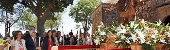 El presidente de Castilla-La Mancha, José María Barreda, asistió en el cerro de Alarcos de Ciudad Real a la misa y la procesión que organiza la Hermandad de San Isidro de la capital.