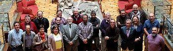 Foto de grupo de los miembros que componen el Comité Científico Asesor, entre ellos la diputada delegada de Medio Ambiente Lucía Enjuto y técnicos de la Institución Provincial.